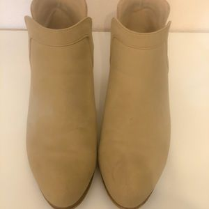JustFab Tan Ankle Boots/Booties Size 7.5